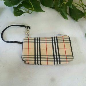 Burberry Nova Check Vintage Wristlet/Coin purse
